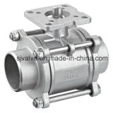 CF8 3 Piece Butt Weld Ball Valve with ISO 5211