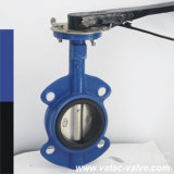 Lever Operated Cast EPDM/NBR Lined Wafer Butterliy Valve