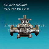 3PC Sanitary Ball Valve with ISO Direct Mount Pad