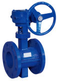 Double Eccentric Soft Sealing Worm Gear Driven Butterfly Valve