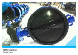 Casting Steel Manual Operated Rubber Lined Wafer Butterfly Valve