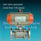 Hot Sale Flanged 3-PC Pneumatic Actuated Vacuum Ball Valve