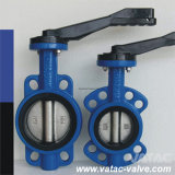 Cast Steel Wcb/Lcb/CF8/CF3 Lever Wafer Butterfly Valve