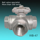 L Port 3-Way Ball Valve with ISO5211 Top Flange