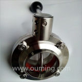 304/316L Sanitary Manual Butterfly Valve (Welding/Clamped/Threaded)