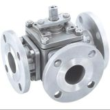 Flanged Stainless Steel L Port Ball Valve