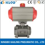 Pneumatic Actuated CF8m 2 Inch Ball Valve for Water Treatment