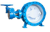 Double Eccentric Metal Seated Butterfly Valve with PTFE Line