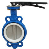 Wafer Type PTFE Seat Oil Industry Butterfly Valve (D71F-16)