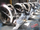 DIN Double Flanged Butterfly Valve with Manual Gearbox Pn25