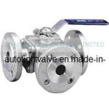 3-Way Ball Valve, Flange End