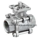 CF8 3 Piece Ball Valve with ISO 5211