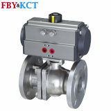 Ss316 Ss304 Wcb Material Pneumatic Ball Valve (Flanged end)