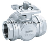 Sanitary 3 Way Ball Valve with ISO 5211