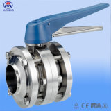 Stainless Steel Manual Welded Three-Piece Butterfly Valve (DS)