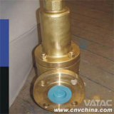 Bronze Safety Relief Valve with Flanged Ends