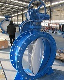 Two Eccentric Spherical Rubber Sealed Butterfly Valve