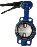 Cast Iron Butterfly Valves Wafer Type Pn 16