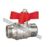 Nickel Plating Bouble Male Forged Brass Ball Valve