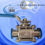 3PCS Sanitary Non Retention Ball Valve