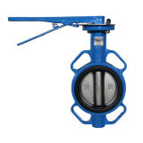 Rubber Resilient Seat Handle Wafer Butterfly Valve