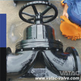 Flanged Bolted Bonnet Weir Type Diaphragm Valve