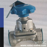 Wcb Body FEP Lining Weir Type Diaphragm Valve