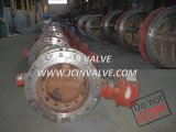 Flanged Metal Seated Butterfly Valve with Manual (D343H)