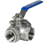 Stainless Steel 3 Way Ball Valve 4 Inches