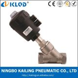 Dn20 Stainless Steel Angle Seat Valve for Steam Water Kljzf