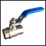 Nickel Plated Brass Ball Valve with Lever Handle