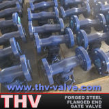 Bolted Bonnet Type Integral Flanged Forged Steel Gate Valve
