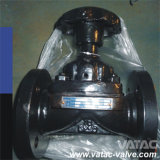 Cast Iron Body Rubber Lining Weir Type Diaphragm Valve