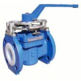 Manual Soft Sealing Flanged Eccentric Plug Valve