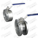 Wafer Type Flanged Ball Valve with 1PC/ 2PC High Performance and CE Certificate