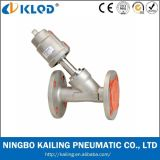 Flang Connect Two Way Piston Angle Seat Valve for Water Kljzf-20