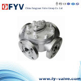 Manual Stainless Steel Four-Way Flanged Ball Valve
