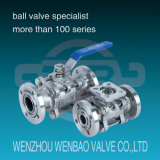 Gud High Vacuum (pressure) Ball Valve with Flanged Ends