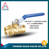 Tmok Dn 20 Mini Brass Ball Valve with Blasting Plating Cw617n Nickel-Plated New Bonnet High Pressure Male Connection with PPR
