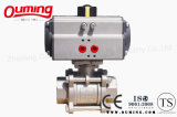 3 PC Stainless Steel Threaded Pneumatic Ball Valve