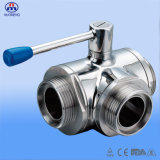 Sanitary Ss Thread 3way Ball Valve