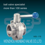 Clamp Type Stainless Steel Sanitary Butterfly Valve